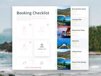 Booking Checklist