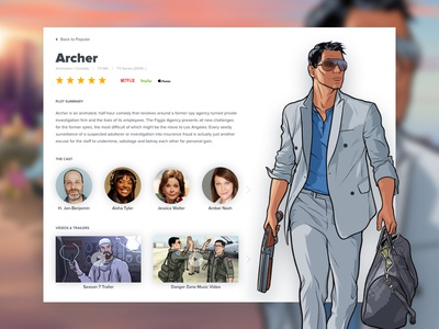 Archer TV Show Details Screen