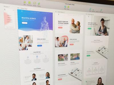 Homepage Designs healthcare testimonial product gradient interface ui landing clean minimal web web design homepage
