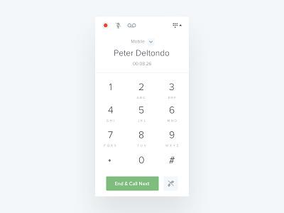 Call Keypad Widget keypad ux ui keyboard minimal salesloft product interface daily ui dial widget call