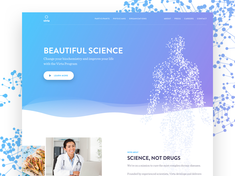 Peter deltondo virta health homepage dribbble 2x