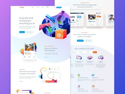 Solutions Page & find the Easter egg clean app user interface charts hero icon chart graph product interface homepage gradient landing minimal illustration responsive web website web design gofundme