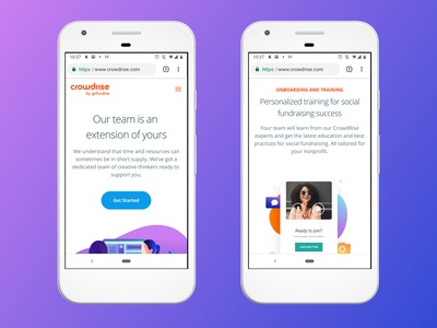 Customer Success Mobile Designs