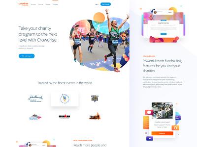 Partners Page app ui design ux branding typography mobile responsive clean landing homepage illustration user interface gradient website product interface ui web web design gofundme