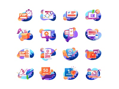 Spot Illustrations gradient icon sprite icon logo interface branding product user interface app ui web design web vector gofundme website charity grabient gradient design illustration