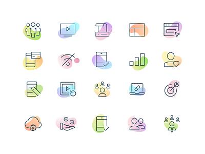 Icons ui design ux branding vector homepage website responsive product landing user interface interface minimal illustration web gradient icon icons set icons web design ui