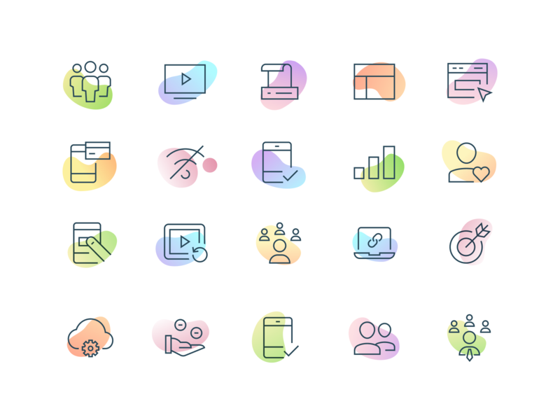 Icons ui design ux branding vector homepage website responsive product landing user interface interface minimal illustration web gradient icon icons set icons web design ui