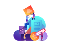 Peter deltondo unfold crowdrise by gofundme success services illustration