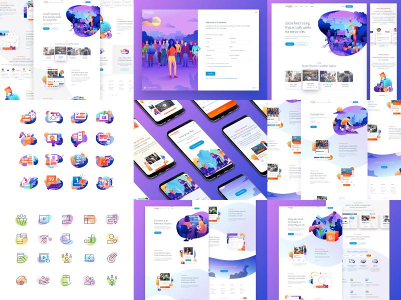 Top Nine for 2018 ui design hero icon branding product vector interface ux user interface web homepage landing gradient responsive illustration website top nine top 9 web design ui