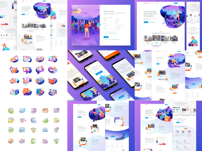 Top Nine for 2018 ui design hero icon branding product vector interface ux user interface web homepage landing gradient responsive illustration website top nine top 9 web design ui