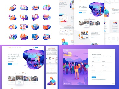 2018 Top Four branding hero mobile illustration ux vector top 4 2018 top four landing homepage user interface gradient product responsive interface website web ui web design