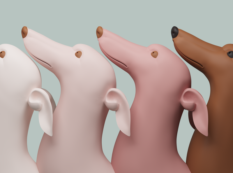 dogs dog 3d art 3d