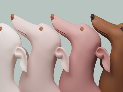 dogs dog 3d art 3d