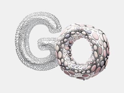 go fonts fun logo 3dsmax design concept 3d