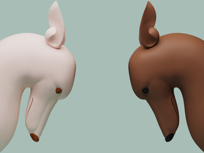 dogs dogs color illustration 3dsmax 3d