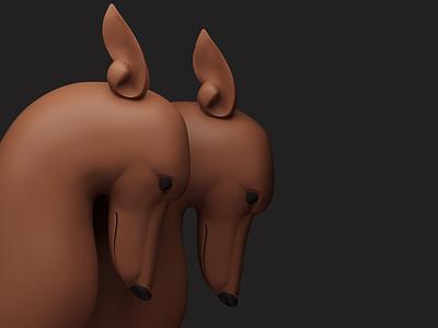 dog 3dsmax illustration 3d