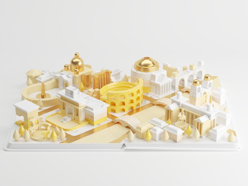 Rome book app city 3d
