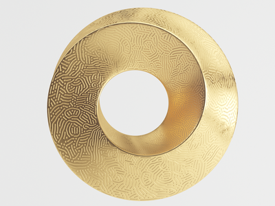 Mobius icon gold 3d