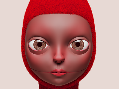 red concept illustration fun 3d