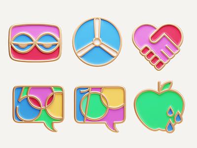pins app icon 3d