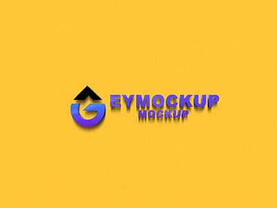 3D Logo Mockup logo branding ui psd web icon ux vector design