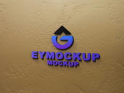 Indoor Wall Logo 3d Mockup illustration ux vector logo branding ui psd menu template design