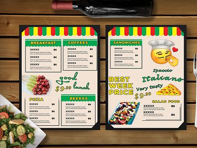Fun Day Restaurant Menu Template graphic design menu design menu template business ui brand design templates template psd menu restarurant day fun