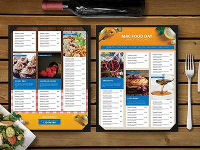 Premium Restaurant Food Snacks Menu Template branding psd menu design icon web business food snacks template templates menu templates snacks food restaurant premium graphic design