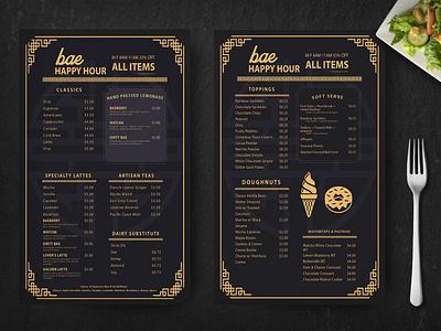 Prime Golden Menu Template psd template menu template business graphic design branding design template psd menu restaurant golden prime