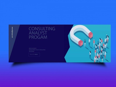Free Business Consulting Analyst Fb Cover banner cover banners ux web covers fb cover analysts consulting business free branding psd design