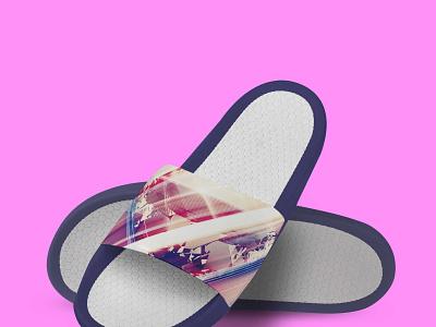 Premium Slippers Mockup ux vector illustration logo ui branding psd menu template design