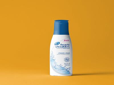 Shampoo Bottle Label Mockup minimal flat label mockup bottle shampoo template design