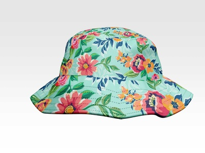 Baby Bucket Hat Mockup illustration branding psd template design mockup hat bucket baby