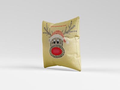 Pillow Cover Mockup illustration branding psd template design mockup cover pillow