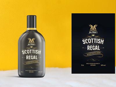 Modern Whisky Bottle Mockup branding psd design mockup bottle whisky modern