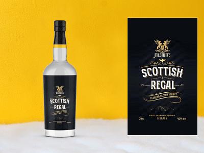 Lux Whisky Bottle Mockup illustration branding psd menu template design mockup bottle whisky lux