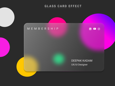 Glass card designe graphic design vector figma ui art illustrator