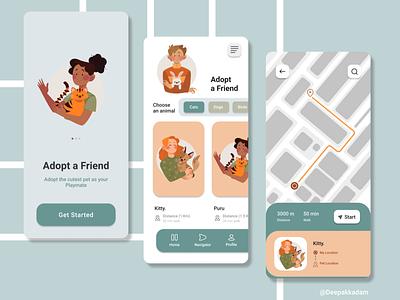 Find a Playmate art ux illustration graphic design design illustrator uxdesign ui figma