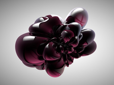 Jubblybubbly 3d cinema4d experiment light and shadoe abstract shape reflections blob light and shadow