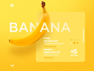 Banana infographic ui web yellow landing website banana