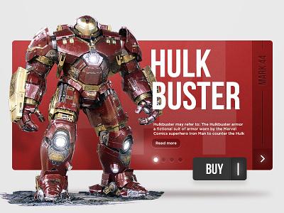Hulkbuster ironman man iron ui marvel avenger hulk hulkbuster