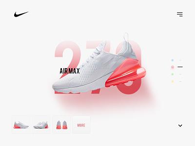Nike Airmax 270 pink white sneaker website minimal max air nike
