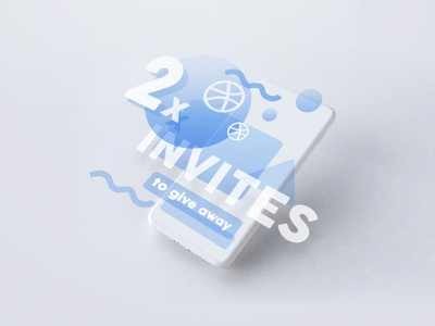 2x invites 2x invitation invite dribbble away give