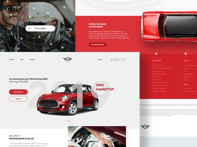 Mini website concept car page landing web minimal clean graphic design ui ux website mini