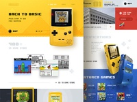 Gameboy color website (concept)