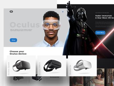 Oculus Website Concept