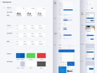 Design System website application ux ui minimal library icon wireframe styleguide design system design colour clean bule branding brand design app