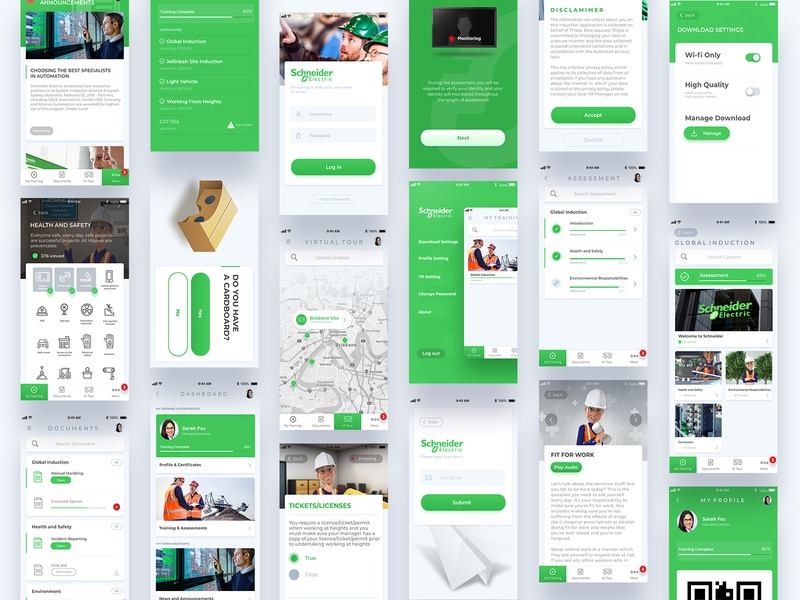 E-learning App e learning learning app creative green real color e-learning ux clean minimal website app design ui