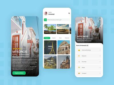 Travel App tourism mobile app ui design mobile design inspiration tourism app trend new popular travel app travel darkmode beautiful ui minimal iphone12 design app android