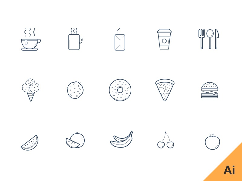 Freebie - Kitchen freebies illustrator ai file glyphs freebie download free icons vector